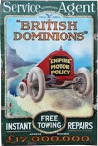 British Dominions Motor insurance sign