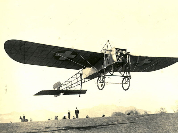 Bleriot's take off from France in 1909