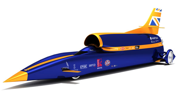 Bloodhound driven by Andy Green
