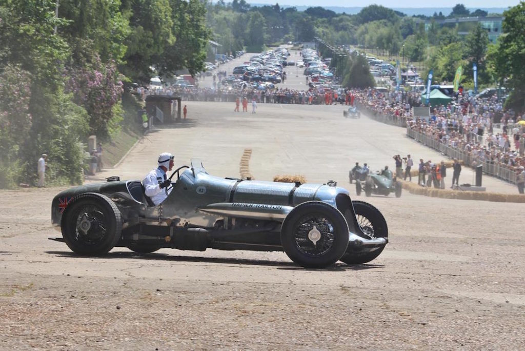 The Railton Special on a recent airing at the Brooklands racing