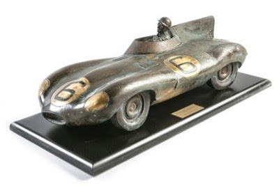 Jaguar D-Type sculpture by Gordon Chism