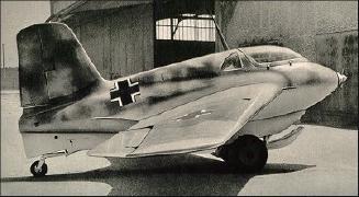 The Me163 Komet jet fighter 1944