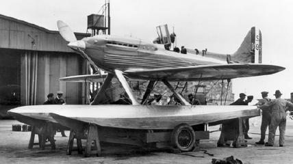 The Schneider Trophy's winning S6 seaplane racer in 1931