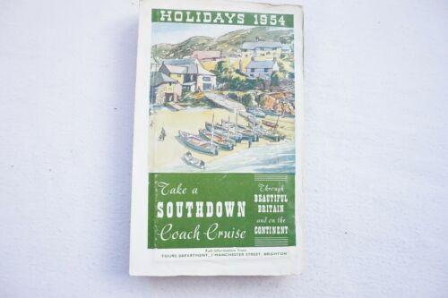 A 1954 Southdown coach cruise brochure