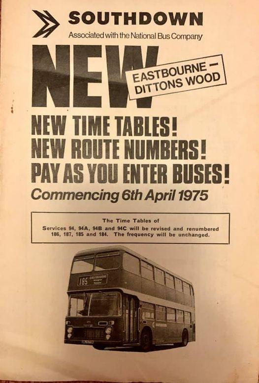 A 1975 Southdown timetable