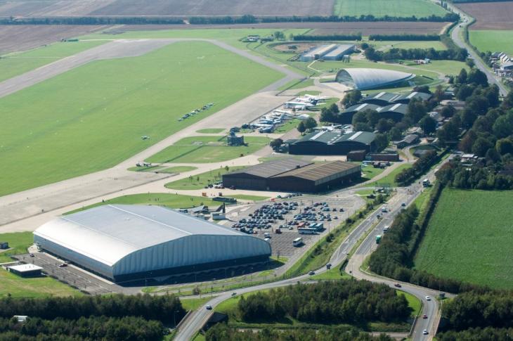 Looking westwards across Duxford Airfield